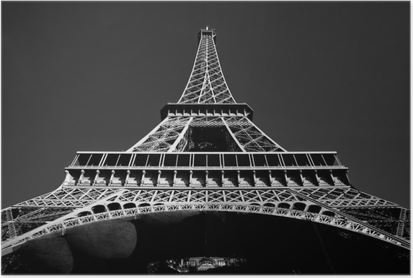 Eiffel tower poster european cities