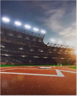 Póster El béisbol profesional Grand Arena en la luz del sol