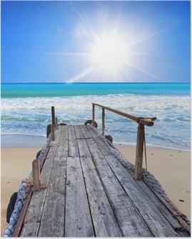 el embarcadero de la playa tropical Poster
