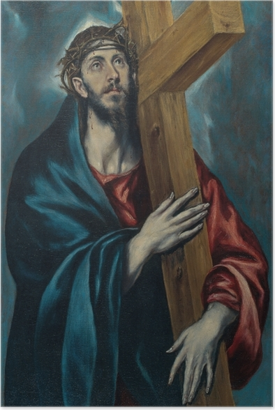 El Greco - Christ Carrying the Cross Poster - Reproductions