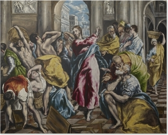 El Greco - Cleaning of the Temple Poster