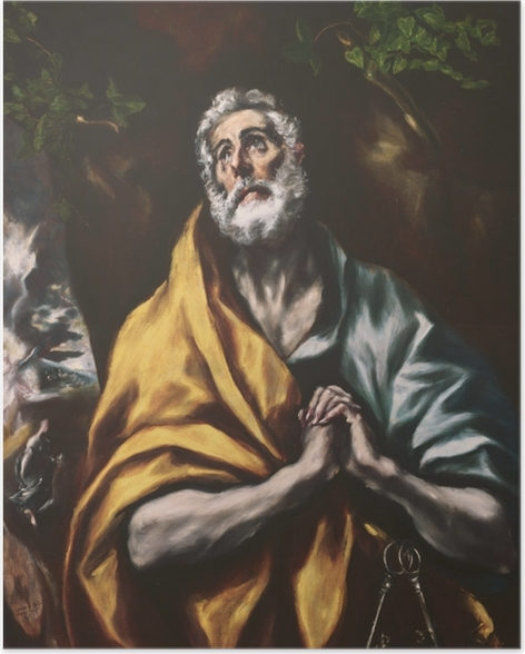 Póster El Greco - El Arrepentido Pedro - Reproducciones