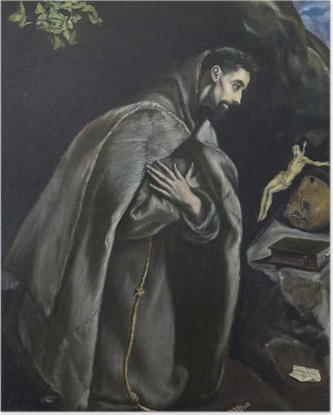 El Greco - St. Francis Praying Poster - Reproductions