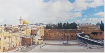 Póster El Muro de los Lamentos en Jerusalén, Israel