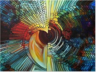 Poster Element av målat glas