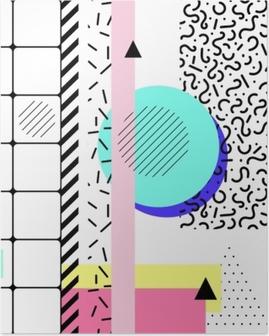 Poster éléments géométriques memphis