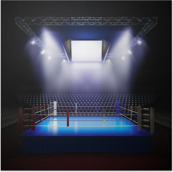 Empty Professional Boxing Ring Poster