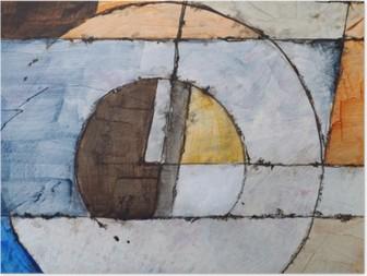 Poster En abstrakt målning