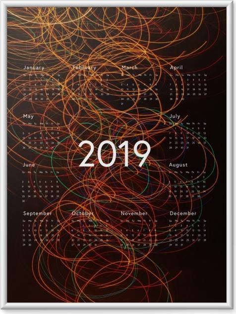 Poster en cadre Calendrier 2019 - abstraction -