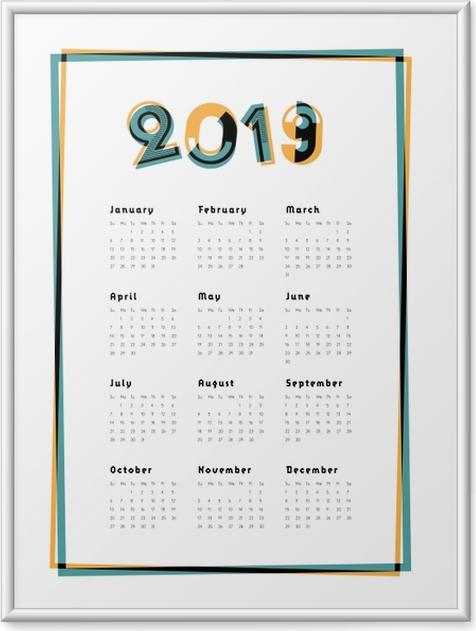 Poster en cadre Calendrier 2019 - Ville -