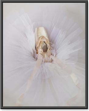 Poster en cadre Chaussures de ballet 1