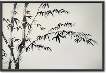 Poster en cadre Encre bambou peints