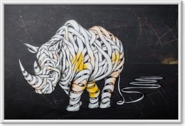 Poster en cadre Étiquette de rhinocéros