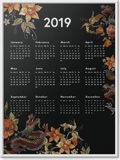 Poster en cadre Kalendarz 2019 - automne -
