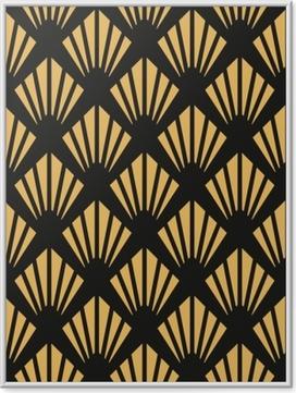 Poster en cadre Modèle de papier peint sans couture art déco