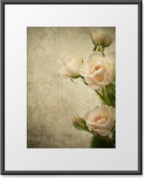 Poster en cadre Texture rose - Styles