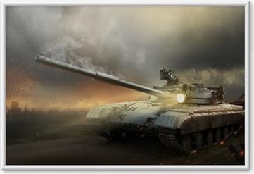 Poster en cadre Une armure lourde dans le feu de la bataille