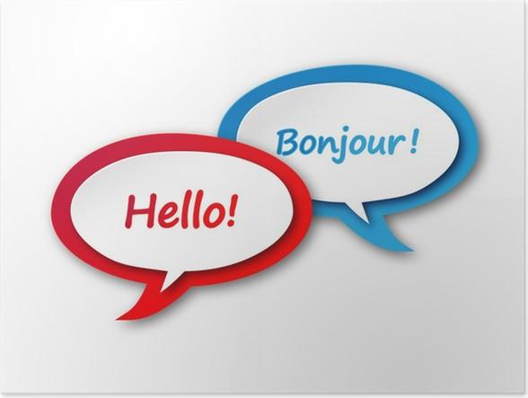 Slaapkamer Franse Vertaling : Poster engels frans vertaling icoon taal tekstballon knop u2022 pixers