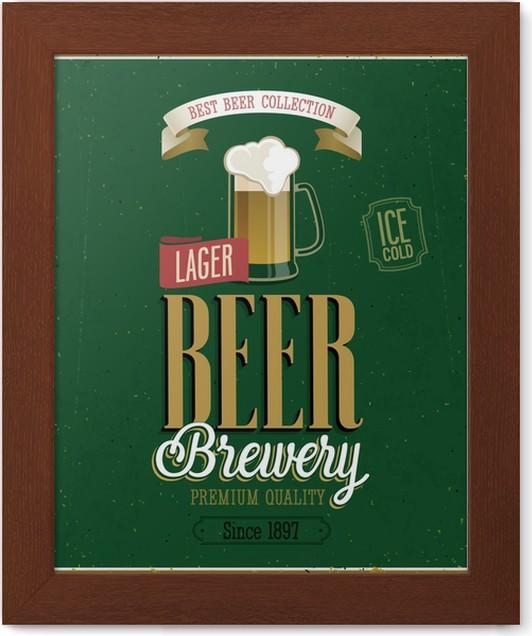 Póster Enmarcado Brewery Cartel Cerveza. Ilustración del vector ...