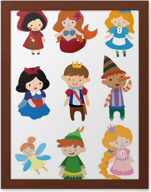 Póster Enmarcado Dibujos animados Poeple historia • Pixers ...