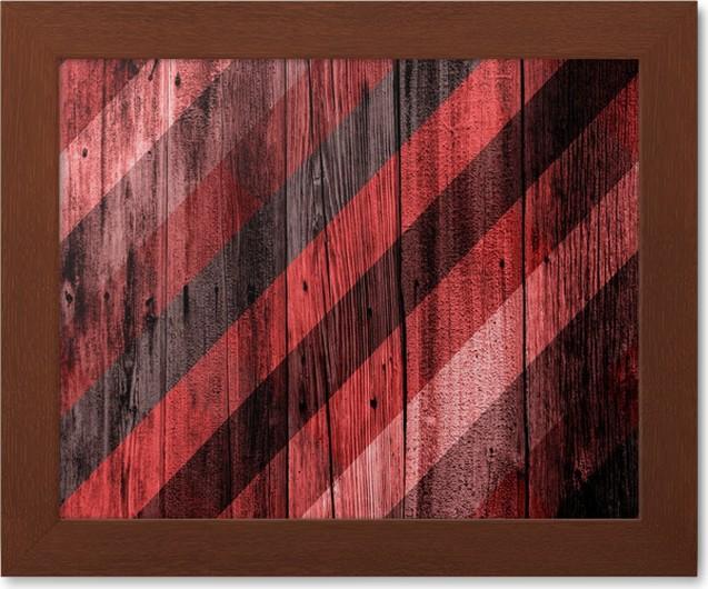 Póster Enmarcado Diseño Interior - Madera Color de Pared • Pixers ...