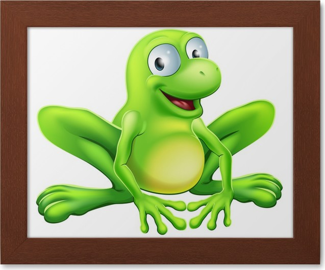 Póster Enmarcado Mascota de la rana • Pixers® - Vivimos para cambiar