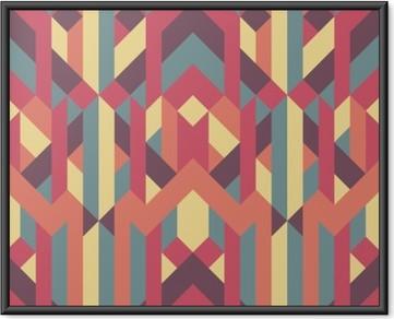 Póster Enmarcado Patrón geométrico abstracto retro