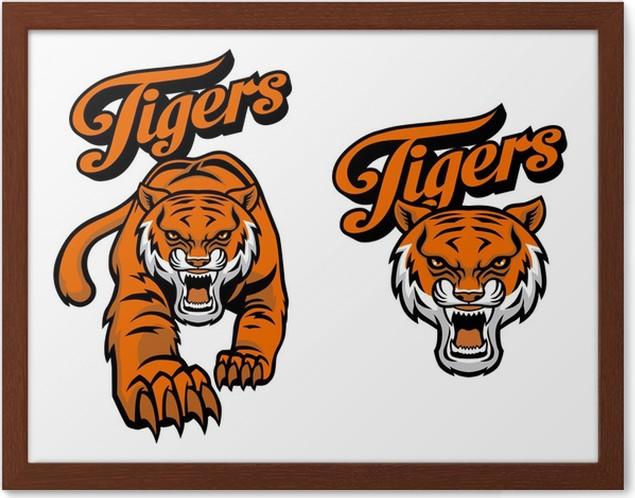 Póster Enmarcado Tigre mascota • Pixers® - Vivimos para cambiar