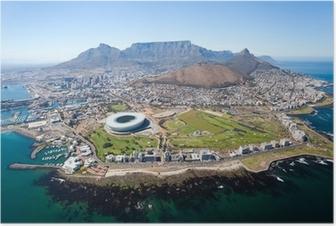 Poster Ensemble vue aérienne de Cape Town, Afrique du Sud