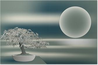 Poster Érable japonais bonsaï
