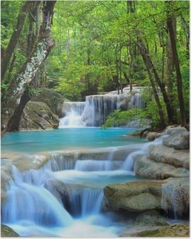 Poster Erawan Waterfall, Kanchanaburi, Thailand