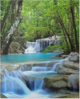 Erawan Waterfall, Kanchanaburi, Thailand Poster