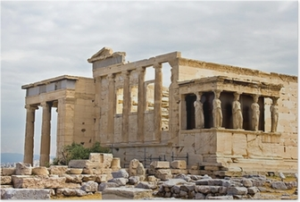 Erechtheum temple ruins at Acropolis Poster