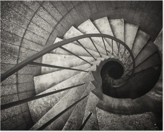 Poster Escalier en colimaçon