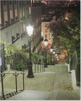 Poster Escalier Montmartre
