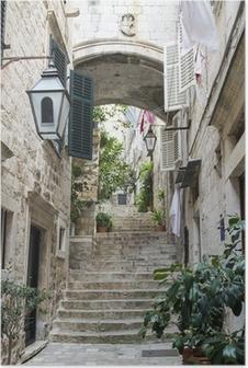 Poster Escaliers dans la vieille ville de Dubrovnik