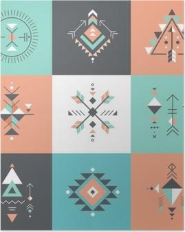 Poster Esoteric, Alchemy, la géométrie sacrée, tribal et aztèque, la géométrie sacrée, formes mystiques, symboles
