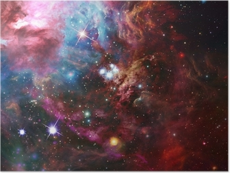 Póster Espacio nebulosa
