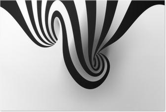 Póster Espiral abstracto con el espacio vacío