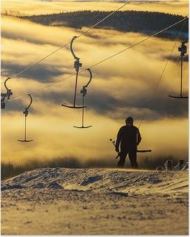 Póster Estación de esquí