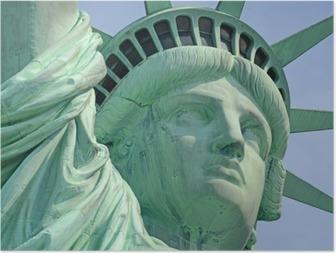 Póster Estatua de la Libertad, Liberty Island, Nueva York