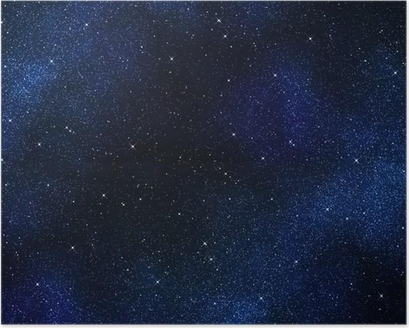 poster toiles dans l 39 espace ou ciel de la nuit pixers nous vivons pour changer. Black Bedroom Furniture Sets. Home Design Ideas