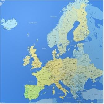 Karta Europa Grekland.Poster Grekland Karta Pixers Vi Lever For Forandring