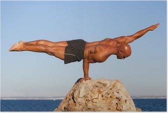 Poster Evenwicht sterke man