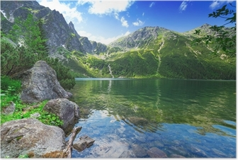 Eye of the Sea lake in Tatra mountains, Poland Poster