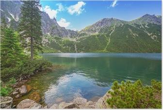 Eye of the Sea lake in Tatra mountains, Poland Poster