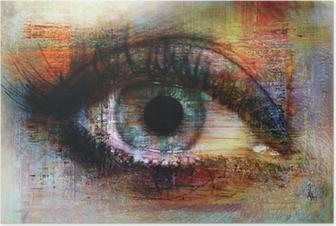 Póster Eye texture