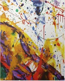 Poster Faire de la peinture