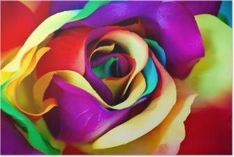 Póster Fake flor rosa