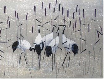 family of cranes Poster